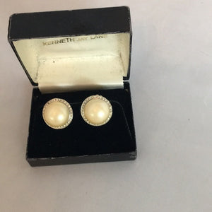 Kenneth Jay Lane Clip Earrings Vintage