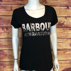 Barbour Black International Tee