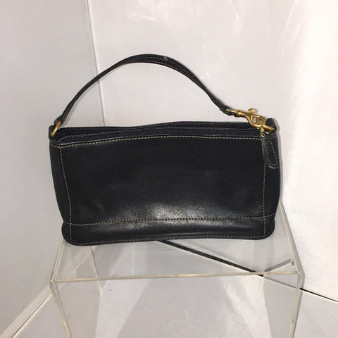 Small Black Leather Coach Bag