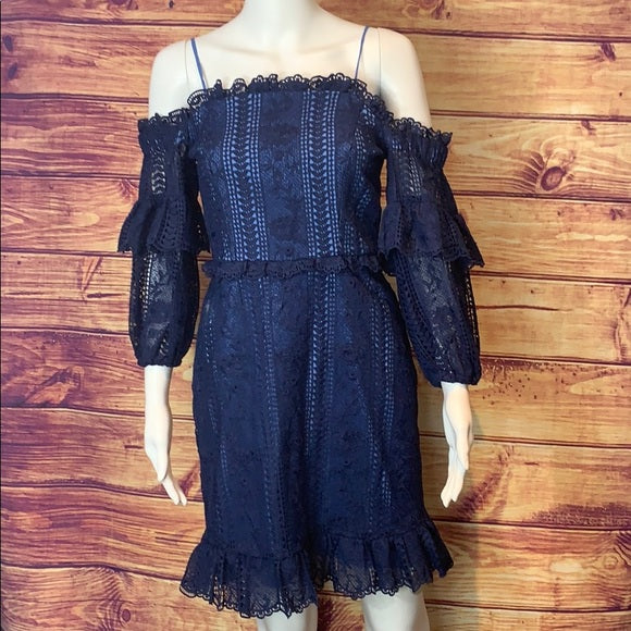 Navy Parker Lace Dress