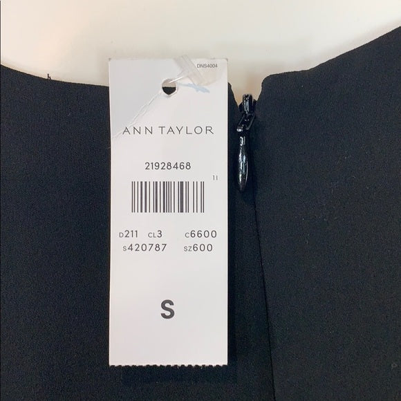 Ann Taylor Black Cold Shoulder Top