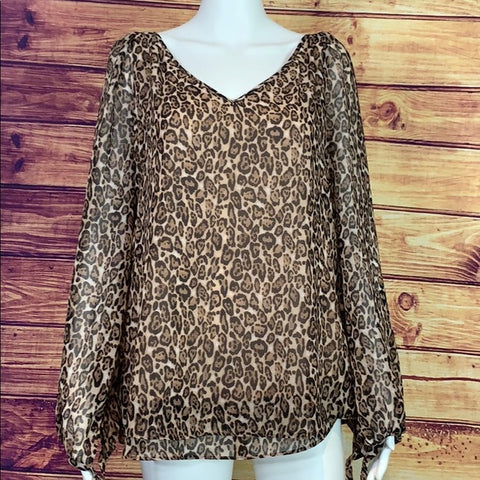 White House Black Market Animal Print Tunic