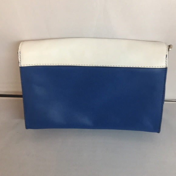 Kate Spade Blue/White Leather Bag