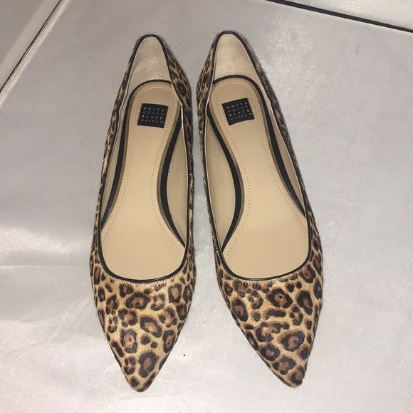 White House/Black Market Leopard Flats