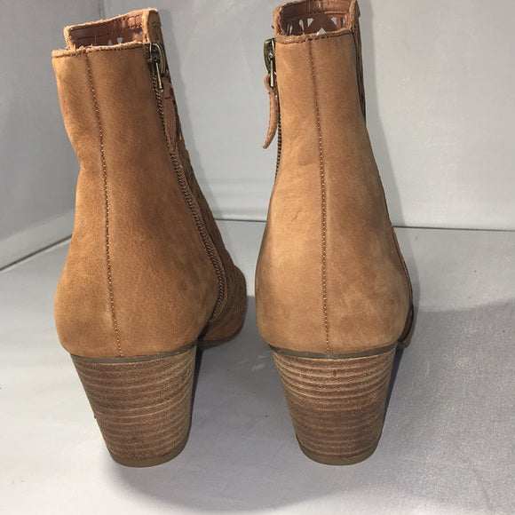 Franco Sarto Brown Suede Booties