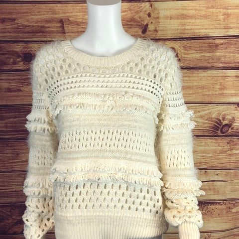 Banana Republic Cream Fluffy Knit Sweater