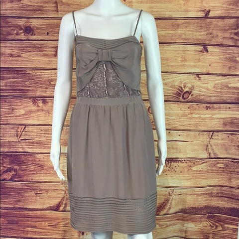 Jenny Jan Taupe Silk Dress
