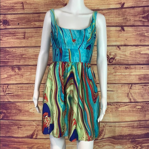 Morrell Maxie Multi silk print dress