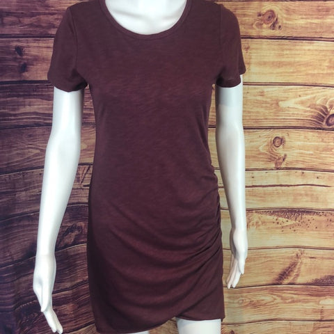 Wasabi + Mint Maroon Layred Tee Dress