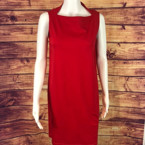 Kate Spade Red Sleeveless Notch Neck