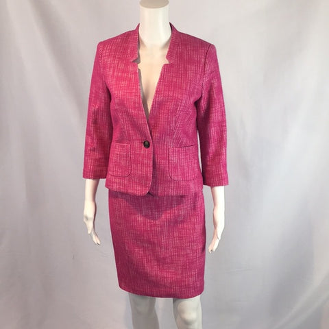 Banana Republic Pink Tweed Suit