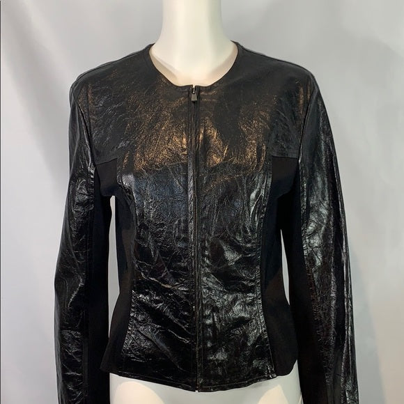 Paula Hian Denisa Lambskin Leather Jacket