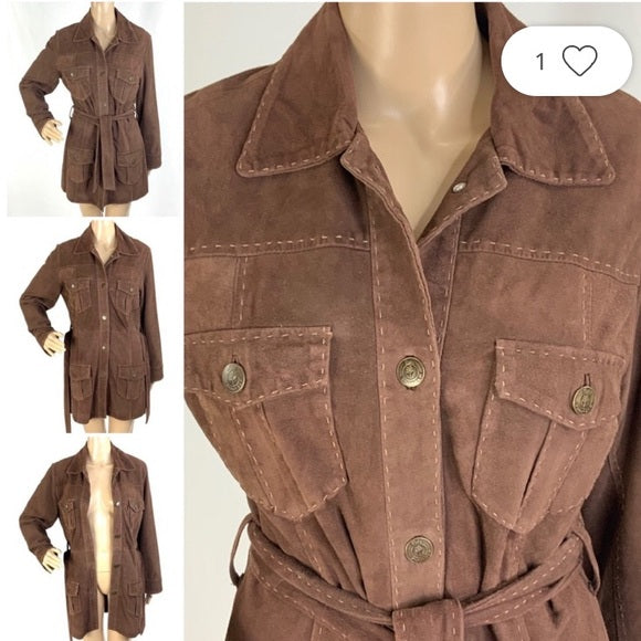Brown Suede 3/4 Trench Lilly Pulitzer