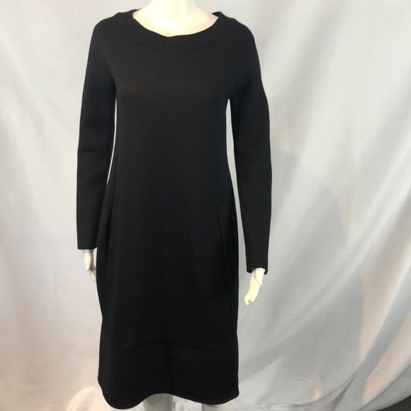 Jil Sander Black Grey Bi Color Sweatshirt Dress