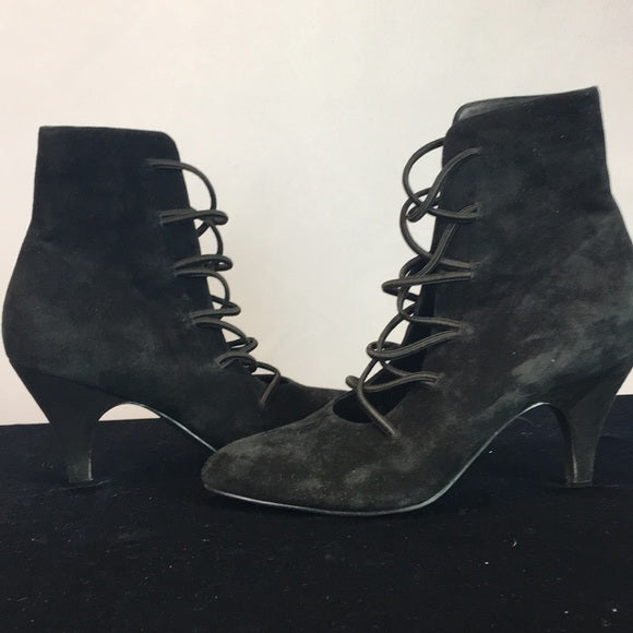 FarylRobin X Free People Black Lace Suede Boots