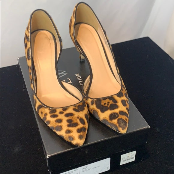 J. Crew Calf Hair D'Orsay Leopard Pumps