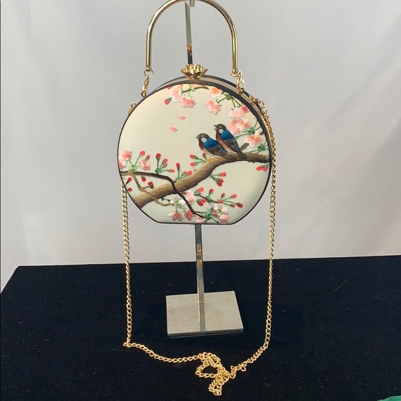 Embroidered Bird Bag