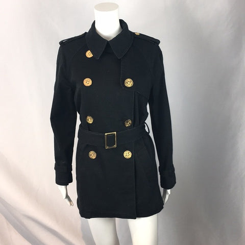Ralph Lauren Black Short Trench