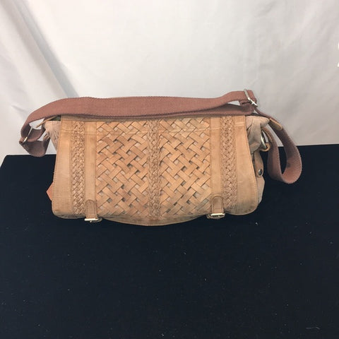 "Anabaglish Brown Woven Messenger Bag ""Abby"""