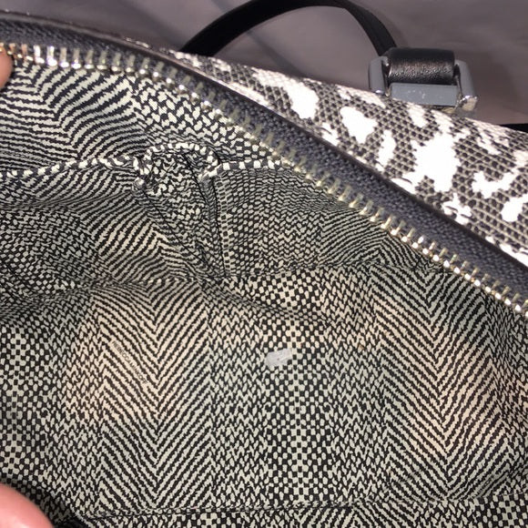 Rebecca Minkoff Blk/Wh Patterned Crossbody Bag