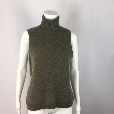 NWT Ralph Lauren Sleeveless Cashmere Turtleneck