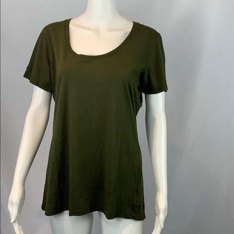 American Giant Green Scoop Neck