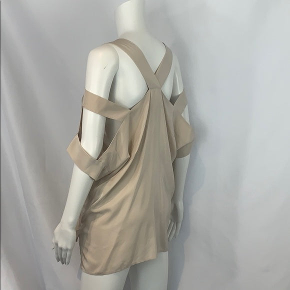 NEW Amanda Uprichard Tan Silk Cutout