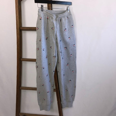 NWT Lucky Brand Joggers With Embroidered Roses