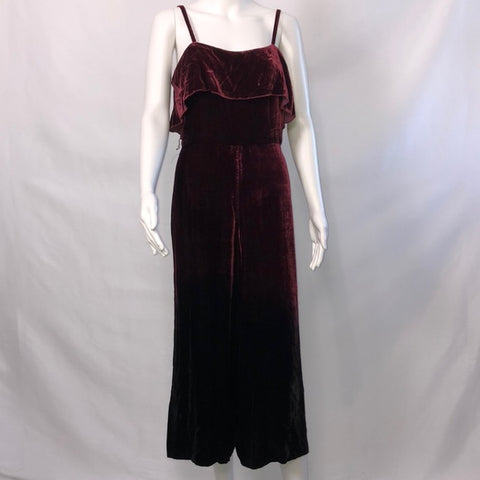 Alice + Olivia Burgundy and Black Ombre Jumpsuit