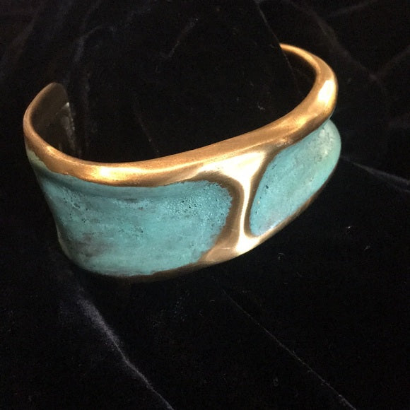 Lazaro Copper/Brass Cuff Bracelet