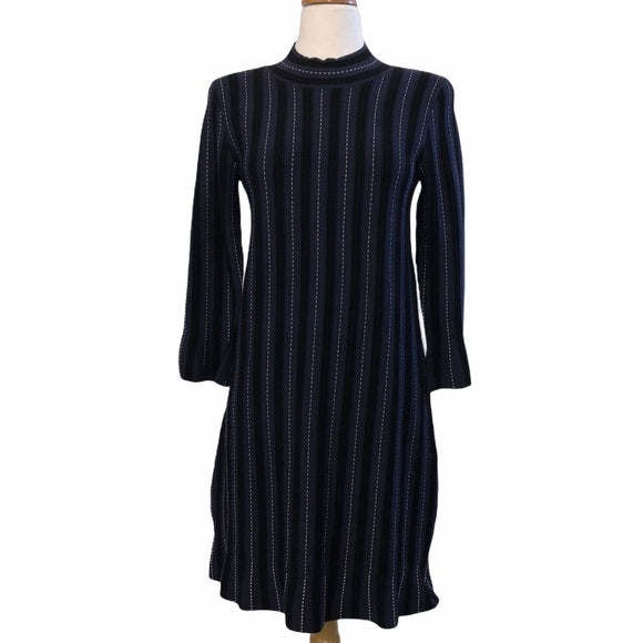 Ann Taylor Blue Ribbed Dress