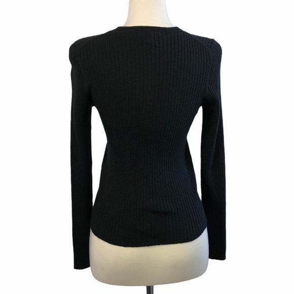 Black Madewell Ribbed Cardigan