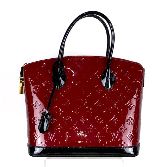 Louis Vuitton Vernis (Maroon) Lockit PM Tote Bag