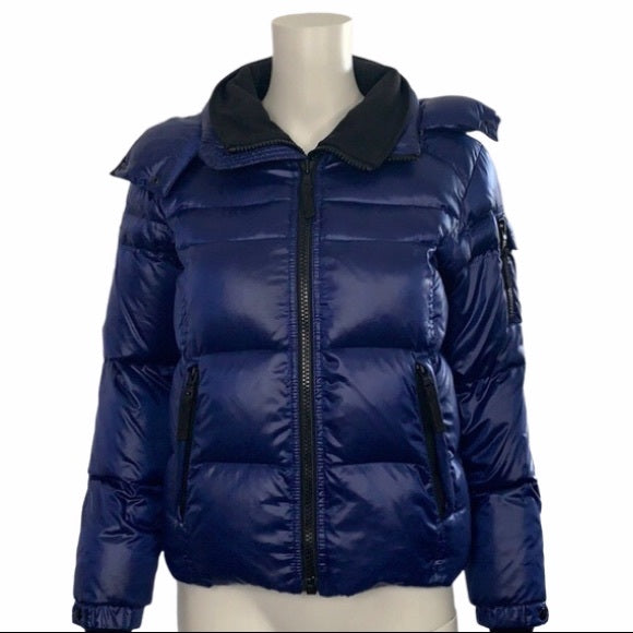 Sam Puffer Jacket Blue with Black