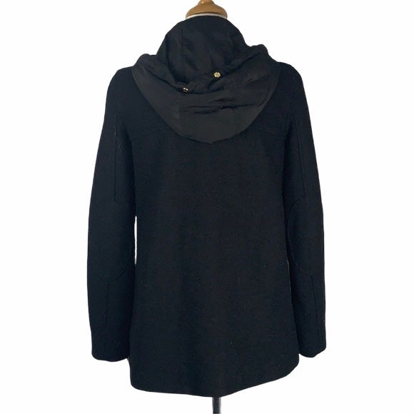 Zara Black Hoodie with Gold Snaps