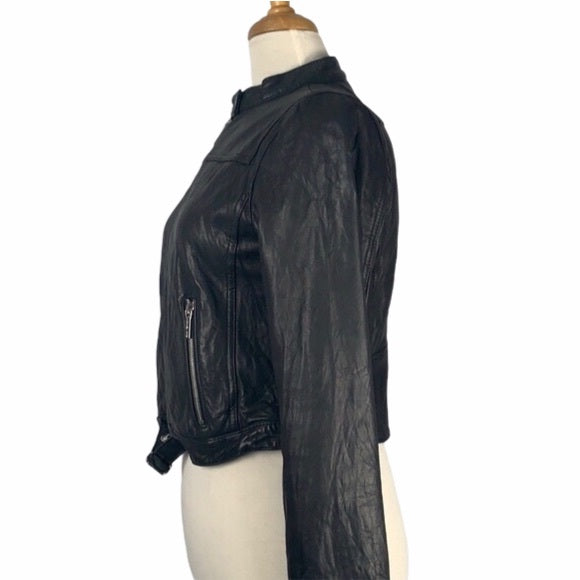 Michael Kors Leather Jacket With Black Buckle