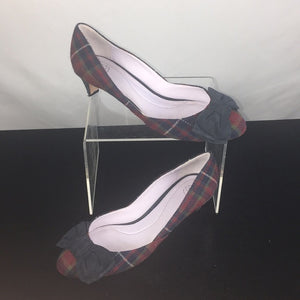 Johnston and Murphy Red Plaid Pumps
