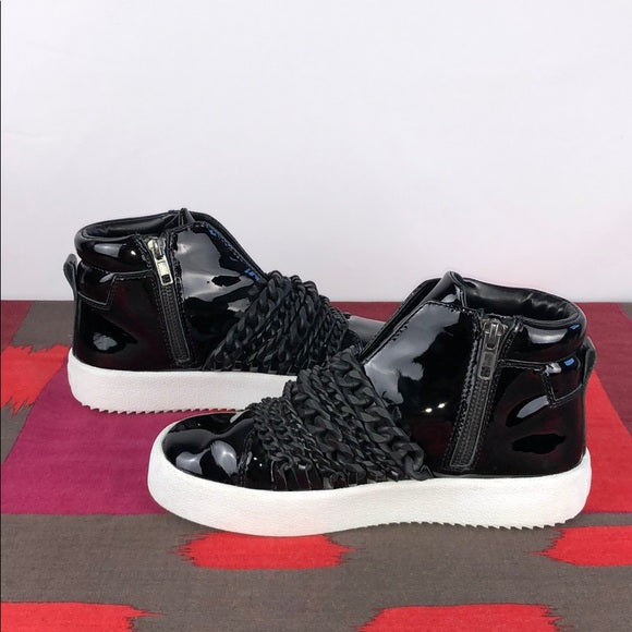 Kendall + Kylie Patent Sneakers w Black Chains