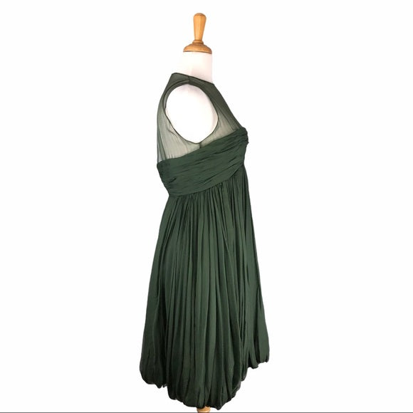 Bruce Oldfield Vintage Hunter Green Dress