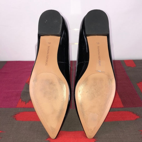 Banana Republic Black Patent Flats