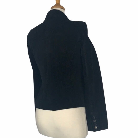 Context Black Suede Fitted Blazer