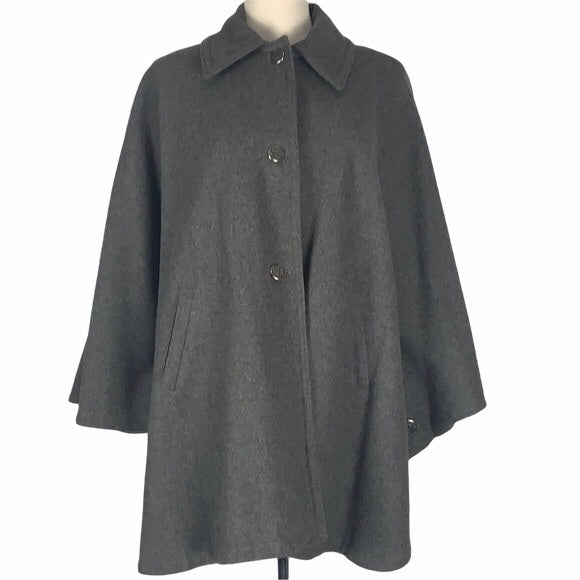 Grey Wool Jacket with Collar