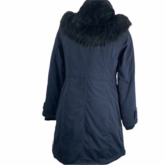 NEW Donna Karan Blue 3/4 with Hood