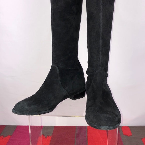 Stuart Weitzman Black Suede Over the Knee Boots