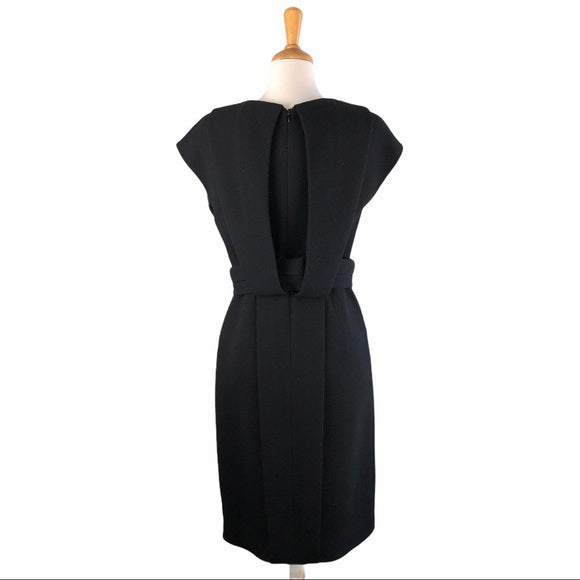 Dice Kayek Black Wool Belted Dress