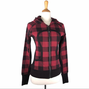 Lululemon Buffalo Plaid Check Red & Black Zip up