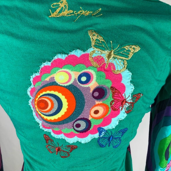 Desigual Multi Print Long Sleeve Tee