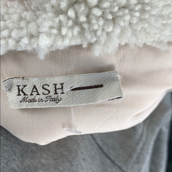 Kash Cream with Faux Shearling Moto