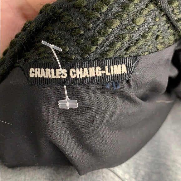 Charles Chang Lima Textured with Cowl Neck Collar