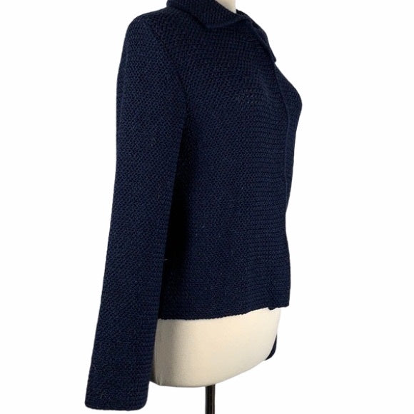 Veritas Blue Wide Chunky Knit